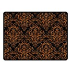 DAMASK1 BLACK MARBLE & RUSTED METAL (R) Double Sided Fleece Blanket (Small)  45 x34 Blanket Front