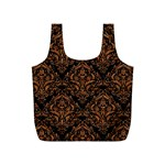 DAMASK1 BLACK MARBLE & RUSTED METAL (R) Full Print Recycle Bags (S)  Front