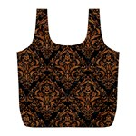 DAMASK1 BLACK MARBLE & RUSTED METAL (R) Full Print Recycle Bags (L)  Back