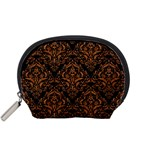 DAMASK1 BLACK MARBLE & RUSTED METAL (R) Accessory Pouches (Small)  Front