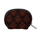 DAMASK1 BLACK MARBLE & RUSTED METAL (R) Accessory Pouches (Small)  Back