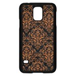 DAMASK1 BLACK MARBLE & RUSTED METAL (R) Samsung Galaxy S5 Case (Black) Front