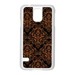 DAMASK1 BLACK MARBLE & RUSTED METAL (R) Samsung Galaxy S5 Case (White) Front
