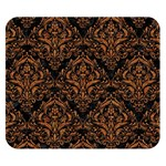 DAMASK1 BLACK MARBLE & RUSTED METAL (R) Double Sided Flano Blanket (Small)  50 x40 Blanket Back
