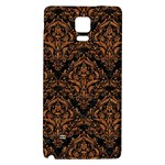 DAMASK1 BLACK MARBLE & RUSTED METAL (R) Galaxy Note 4 Back Case Front