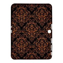 Damask1 Black Marble & Rusted Metal (r) Samsung Galaxy Tab 4 (10 1 ) Hardshell Case
