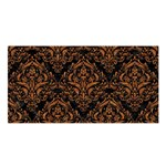 DAMASK1 BLACK MARBLE & RUSTED METAL (R) Satin Shawl Front