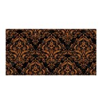 DAMASK1 BLACK MARBLE & RUSTED METAL (R) Satin Wrap Front