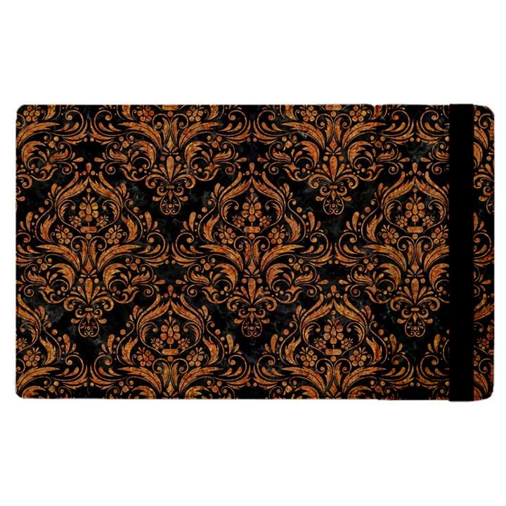 DAMASK1 BLACK MARBLE & RUSTED METAL (R) Apple iPad Pro 9.7   Flip Case