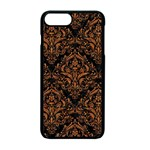 DAMASK1 BLACK MARBLE & RUSTED METAL (R) Apple iPhone 7 Plus Seamless Case (Black) Front