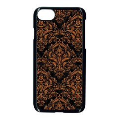 Damask1 Black Marble & Rusted Metal (r) Apple Iphone 7 Seamless Case (black)