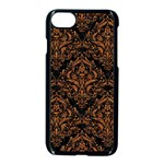 DAMASK1 BLACK MARBLE & RUSTED METAL (R) Apple iPhone 7 Seamless Case (Black) Front