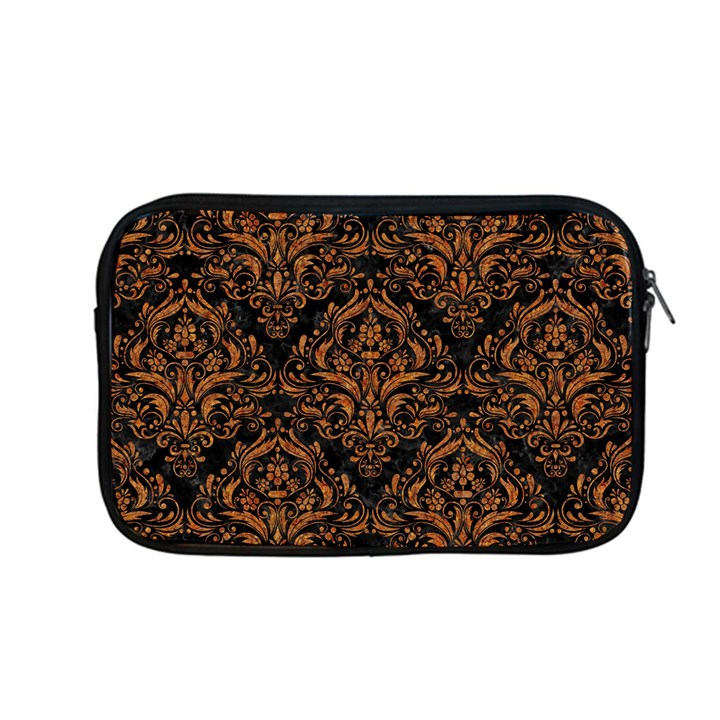 DAMASK1 BLACK MARBLE & RUSTED METAL (R) Apple MacBook Pro 13  Zipper Case