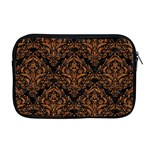 DAMASK1 BLACK MARBLE & RUSTED METAL (R) Apple MacBook Pro 17  Zipper Case Front