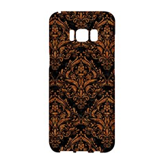 Damask1 Black Marble & Rusted Metal (r) Samsung Galaxy S8 Hardshell Case