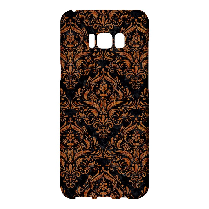 DAMASK1 BLACK MARBLE & RUSTED METAL (R) Samsung Galaxy S8 Plus Hardshell Case
