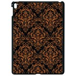 DAMASK1 BLACK MARBLE & RUSTED METAL (R) Apple iPad Pro 9.7   Black Seamless Case Front