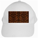 DAMASK2 BLACK MARBLE & RUSTED METAL White Cap Front
