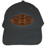 DAMASK2 BLACK MARBLE & RUSTED METAL Black Cap Front