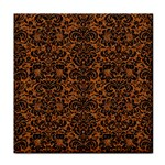 DAMASK2 BLACK MARBLE & RUSTED METAL Tile Coasters Front
