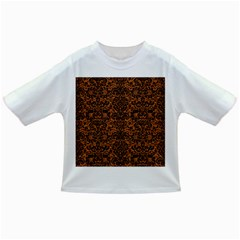 Damask2 Black Marble & Rusted Metal Infant/toddler T Shirts