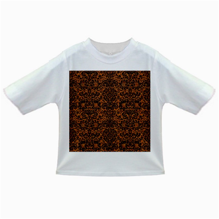 DAMASK2 BLACK MARBLE & RUSTED METAL Infant/Toddler T-Shirts