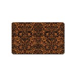 DAMASK2 BLACK MARBLE & RUSTED METAL Magnet (Name Card) Front