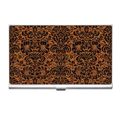 Damask2 Black Marble & Rusted Metal Business Card Holders
