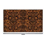 DAMASK2 BLACK MARBLE & RUSTED METAL Business Card Holders Front