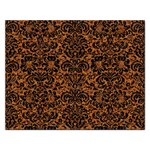 DAMASK2 BLACK MARBLE & RUSTED METAL Rectangular Jigsaw Puzzl Front