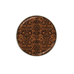 Damask2 Black Marble & Rusted Metal Hat Clip Ball Marker
