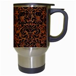 DAMASK2 BLACK MARBLE & RUSTED METAL Travel Mugs (White) Right