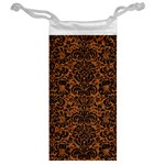 DAMASK2 BLACK MARBLE & RUSTED METAL Jewelry Bag Back