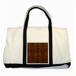 DAMASK2 BLACK MARBLE & RUSTED METAL Two Tone Tote Bag Front