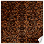 DAMASK2 BLACK MARBLE & RUSTED METAL Canvas 16  x 16   16 x16 Canvas - 1