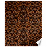 DAMASK2 BLACK MARBLE & RUSTED METAL Canvas 16  x 20   20 x16 Canvas - 1