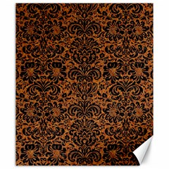 Damask2 Black Marble & Rusted Metal Canvas 20  X 24