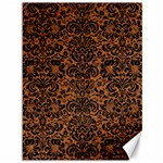 DAMASK2 BLACK MARBLE & RUSTED METAL Canvas 36  x 48   48 x36 Canvas - 1
