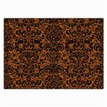 DAMASK2 BLACK MARBLE & RUSTED METAL Large Glasses Cloth (2-Side) Front