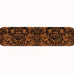 Damask2 Black Marble & Rusted Metal Large Bar Mats