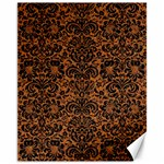 DAMASK2 BLACK MARBLE & RUSTED METAL Canvas 11  x 14   14 x11 Canvas - 1