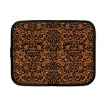 DAMASK2 BLACK MARBLE & RUSTED METAL Netbook Case (Small)  Front