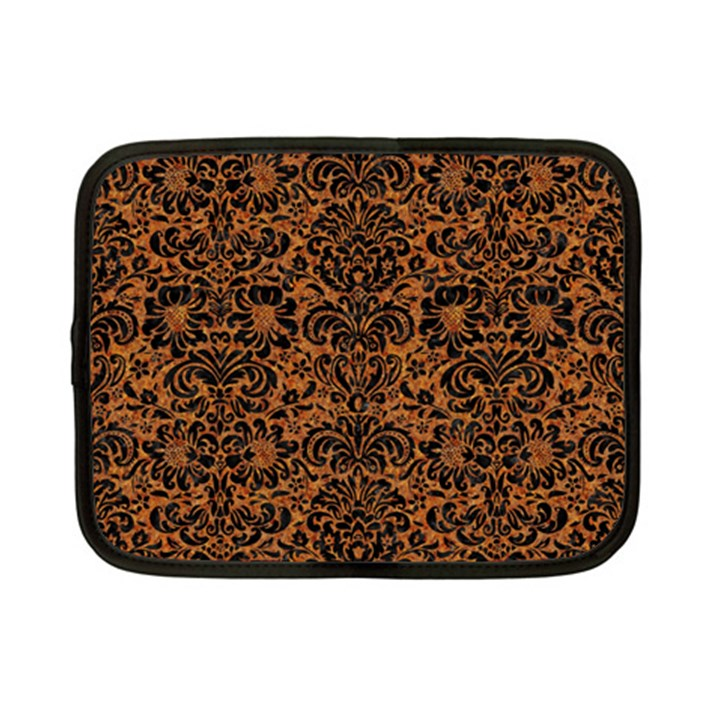 DAMASK2 BLACK MARBLE & RUSTED METAL Netbook Case (Small)