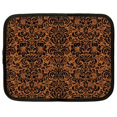 Damask2 Black Marble & Rusted Metal Netbook Case (large)