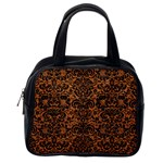 DAMASK2 BLACK MARBLE & RUSTED METAL Classic Handbags (One Side) Front