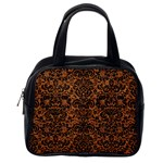 DAMASK2 BLACK MARBLE & RUSTED METAL Classic Handbags (2 Sides) Back