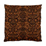 DAMASK2 BLACK MARBLE & RUSTED METAL Standard Cushion Case (Two Sides) Back