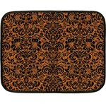 DAMASK2 BLACK MARBLE & RUSTED METAL Double Sided Fleece Blanket (Mini)  35 x27 Blanket Front