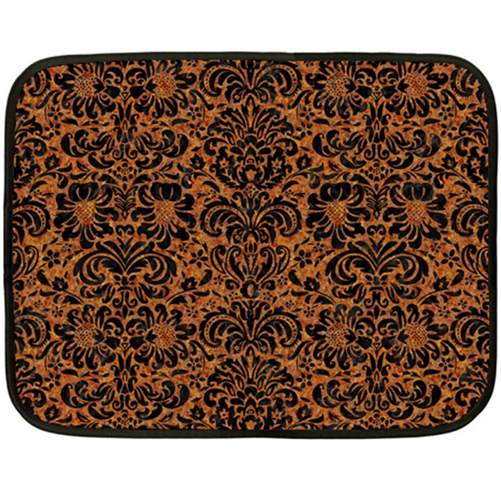 DAMASK2 BLACK MARBLE & RUSTED METAL Double Sided Fleece Blanket (Mini)