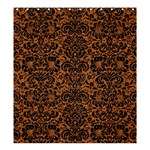 DAMASK2 BLACK MARBLE & RUSTED METAL Shower Curtain 66  x 72  (Large)  58.75 x64.8 Curtain